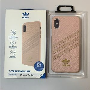 Adidas IPhone 10/X/XS snap back case pink